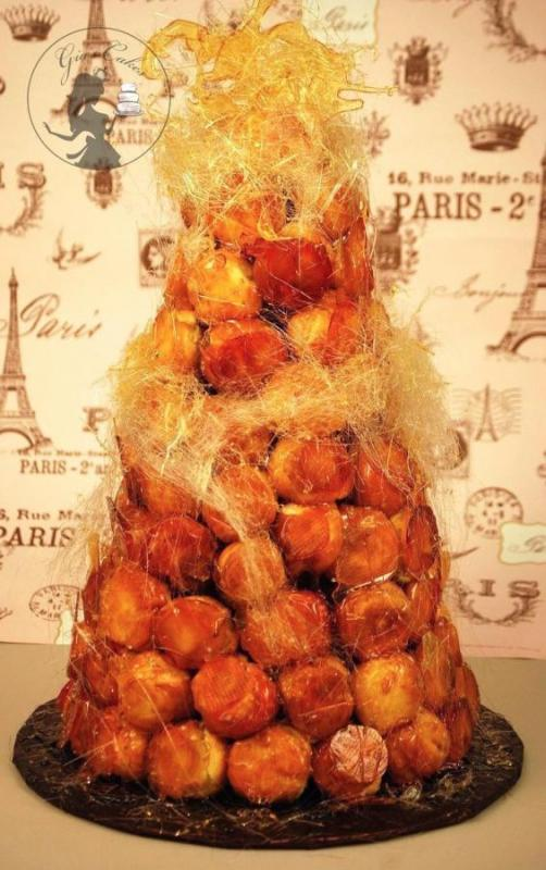 Custom-French-Wedding-Cake-Croquembouche