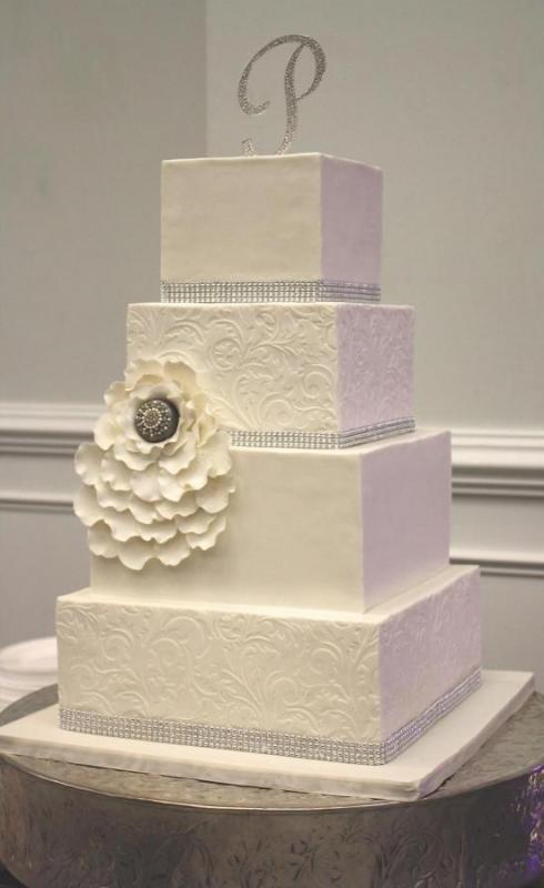 Custom-square-Wedding-Cake