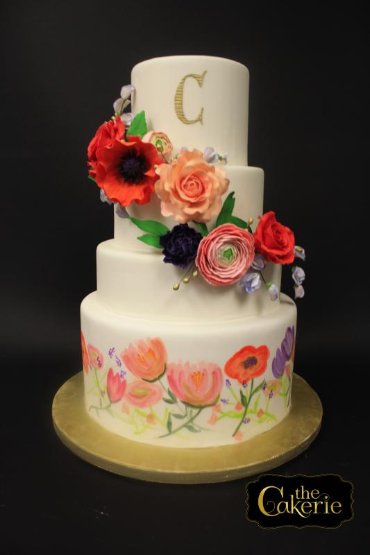 Bold-color-Sugar-Flowers and-Hand-Painted florals