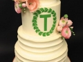 Buttercream-texture-Custom-Letter-Wedding-Cake